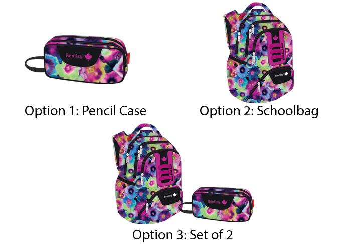 Floral schoolbag