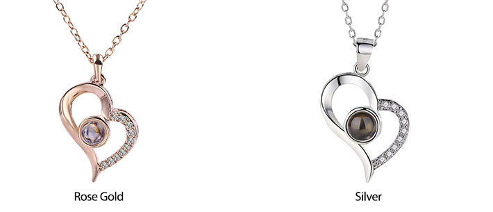 Special heart 100 Languages Infinite-Way I Love You Necklace Pendant