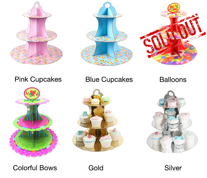 3-Tier Cupcakes Display Stand