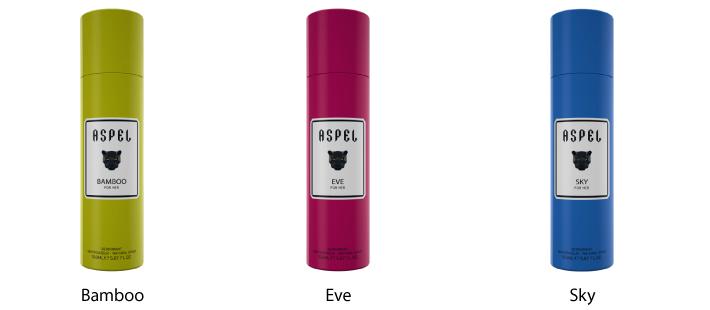 Aspel 150 ml Deodorant Natural Spray For Her