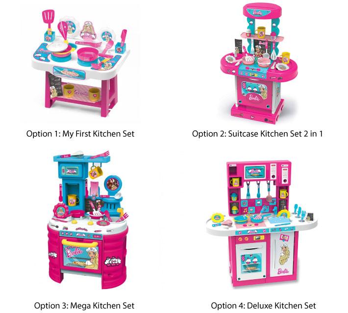 Bildo Barbie Kitchen Set