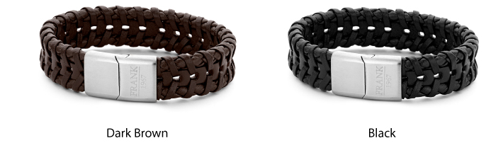Frank Leather Braided Stainless Steel Bracelet