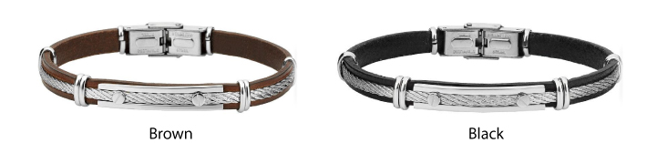 Polo Exchange Men's Leather Bracelet