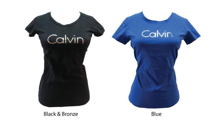 Calvin Klein Jeans Women's Metallic Slim Fit T-shirt