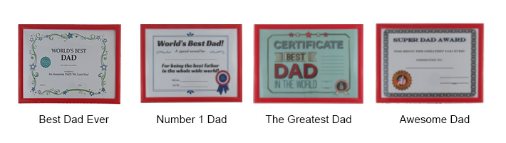 Father's Day Certificate Frame