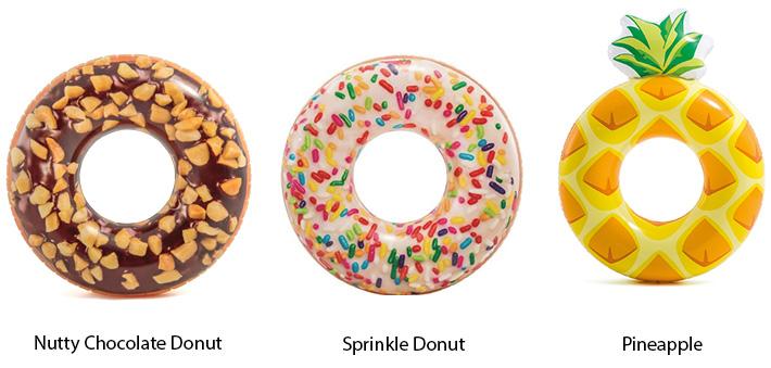 Intex Pineapple / Donut Tube Float