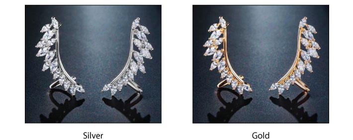 Swarovski Crystal Ear Cuff Earrings