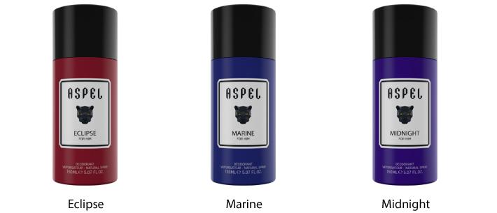 Aspel 150 ml Deodorant Natural Spray For Him