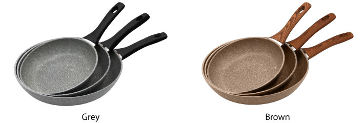 Marble Coated Forges Frying Pan 3-Piece Set