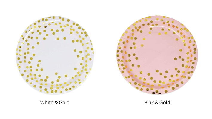 Gold Dots Paper Plates