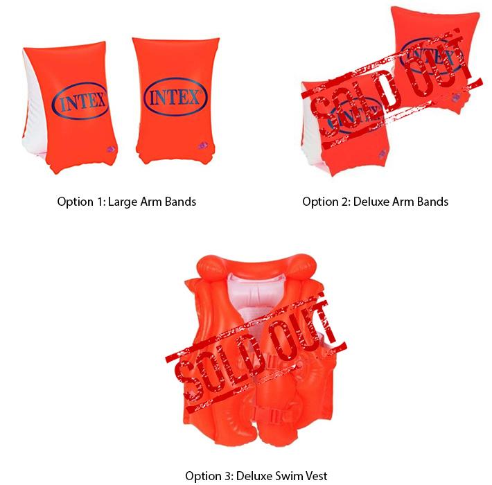 Intex Inflatable Orange Swim Trainers