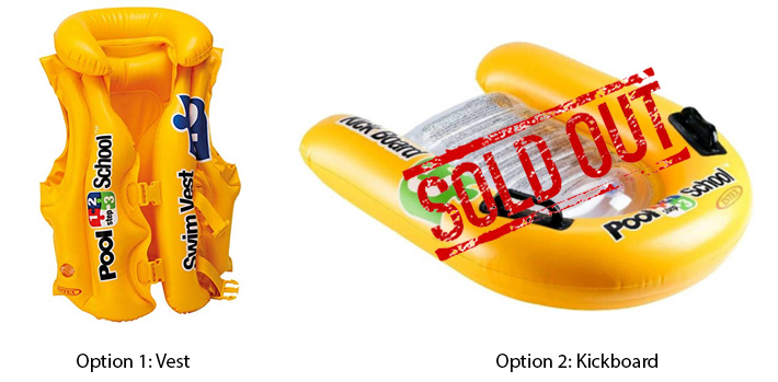 Intex Yellow Inflatable Swim Trainers