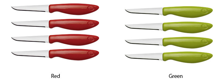 Joie 4-Piece Flexible Paring Carded Knives Set