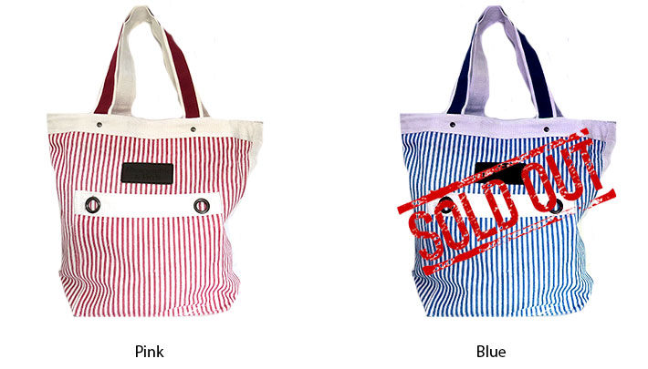 Abercrombie & Fitch Striped Canvas Tote
