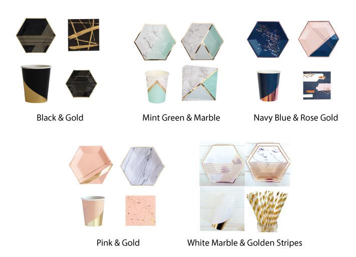 Hexagonal Paper Plates