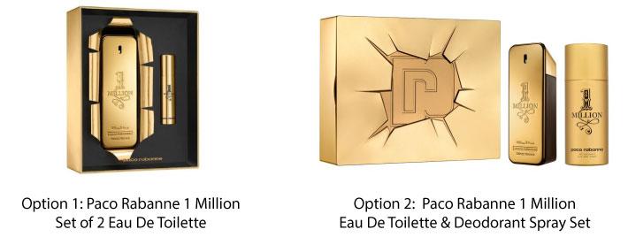 Paco Rabanne 1 Million Eau De Toilette Set For Him