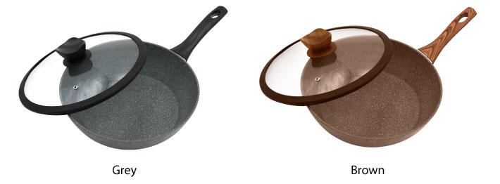 28 cm Marble Coated Deep Frying Pan