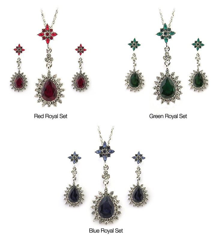 Royal Necklace & Earrings Set