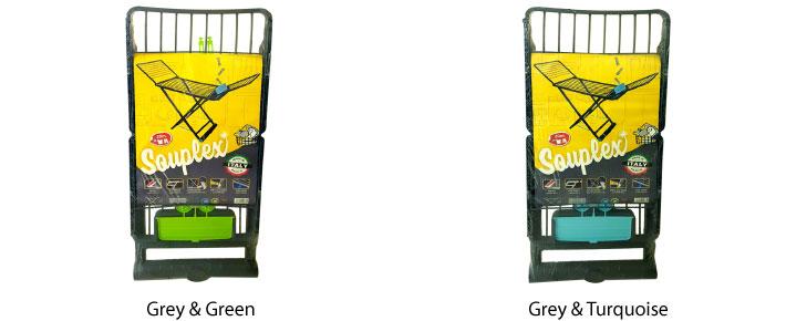 Souplex Laundy Rack with Wheels & Clothes Clip Box