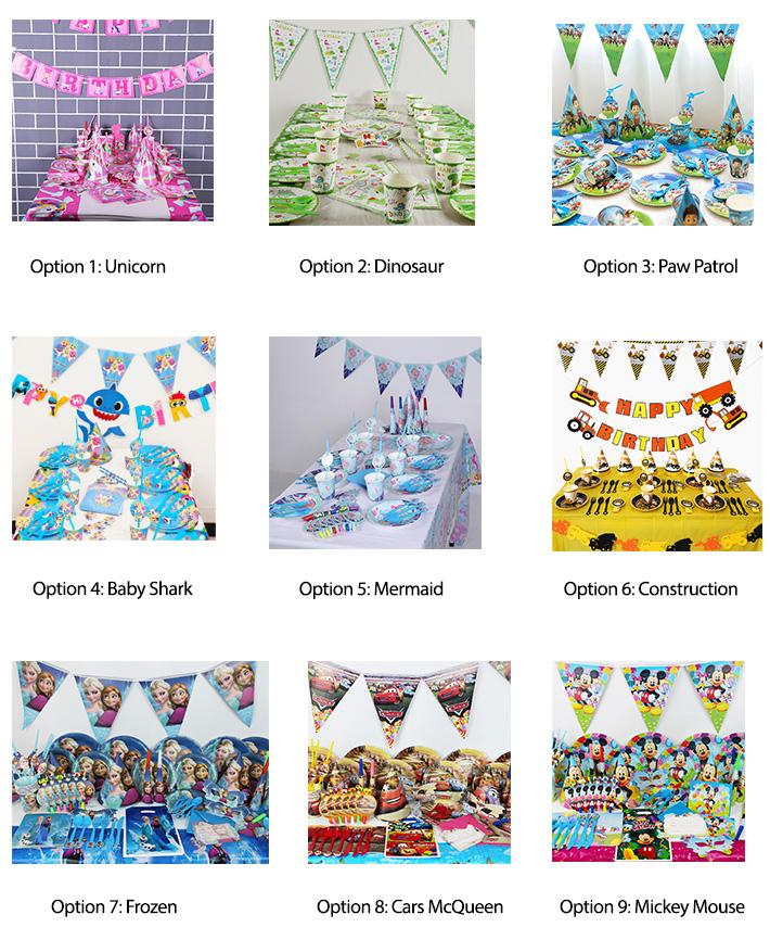 Birthday Tableware Sets
